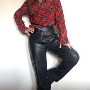 🌙SOLD🌙 on IG vintage leather black pants